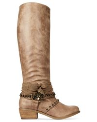 Naughty Monkey Brown Not Rated Tualamne Western Boots