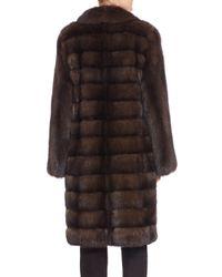 Saks Fifth Avenue - Brown Sable Fur Coat - Lyst