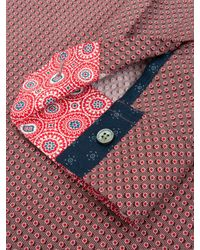 Ted Baker Red Dotbiz Long Sleeve Shirt for men