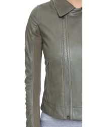 June - Green Fitted Mc Jacket - Celadon - Lyst