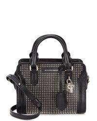 Alexander McQueen - Padlock Mini Black Leather Tote - Lyst