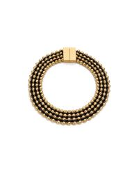 Bex Rox - Metallic Frida Collar Necklace Goldblack - Lyst