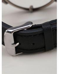 Ann Demeulemeester - Black Faux Watch Bracelet for Men - Lyst