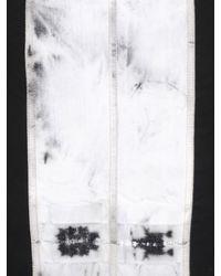 Rick Owens Black Strapless Tulle & Cotton Denim Batik Top