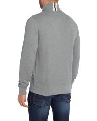 Barbour | Gray Castlefield Zip Through Sweat for Men | Lyst