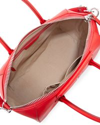 Givenchy Red Antigona Medium Leather Satchel Bag