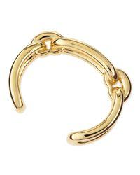 Balenciaga Metallic Maillon Link Cuff Bracelet