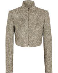 Theyskens' Theory Jomber Cropped Metallic Tweed Jacket