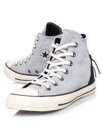 Converse Gray Grey Tri Zip Chuck Taylor Hi-Top Trainers