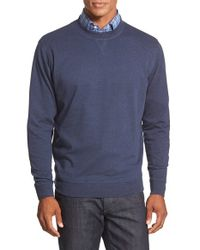 Peter Millar | Blue Interlock Crewneck Sweatshirt for Men | Lyst