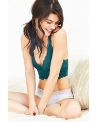 Out From Under | Green Allover Scalloped Lace Bralette | Lyst