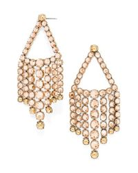 BaubleBar | Metallic 'diana' Chandelier Earrings - Champagne/ Antique Gold | Lyst