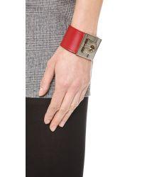 Ferragamo Gancio Bracelet Red
