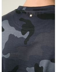 Valentino | Gray 'Rockstud' Camouflage T-Shirt for Men | Lyst