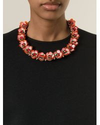 Shourouk - Red 'Daisy' Necklace - Lyst