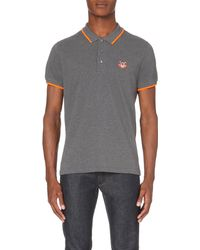 KENZO | Gray Tiger Cotton-piqué Polo Shirt for Men | Lyst