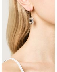 Rebecca | Metallic Elizabeth Single Stone Earrings | Lyst