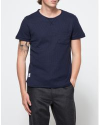 Native Youth - Blue Waffle Effect Tee for Men - Lyst