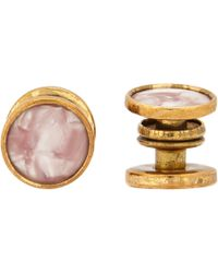 The Antique Jewel Box Pink Vintage Snap Cufflinks for men