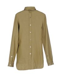 MM6 by Maison Martin Margiela - Green Shirt - Lyst