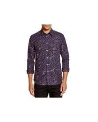 PS by Paul Smith | Blue Blurred Dot Slim Fit Button Down Shirt for Men | Lyst