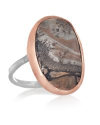 Melissa Joy Manning - Pink 14-karat Rose Gold, Sterling Silver And Sonora Dendritic Ring - Lyst