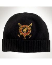 Polo Ralph Lauren - Black Lambswool St Moritz Hat for Men - Lyst