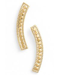 Anna Beck | Metallic 'gili' Curved Bar Stud Earrings | Lyst