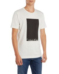 Calvin Klein White Tel T-shirt for men