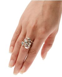 Natasha Collis - Metallic Large Sterling Silver and Sapphire Stacking Ring - Lyst