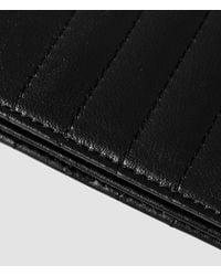 AllSaints Black Moto Bs Card Holder