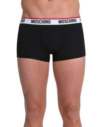 Moschino | Blue Microfiber Trunks for Men | Lyst