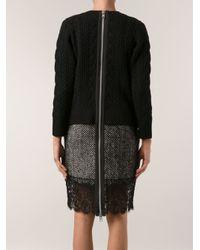 Sacai Black Sweater Dress