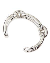 Balenciaga | Metallic Maillon Link Cuff Bracelet for Men | Lyst