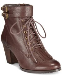 Bella Vita | Brown Kody Lace-up Booties | Lyst