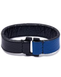 George Frost | Blue Equus Leather Bracelet | Lyst