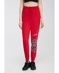 Forever 21 - Red Miami Heat Drawstring Sweatpants - Lyst