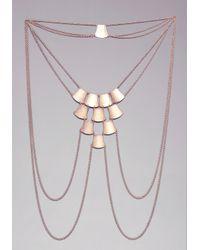 Bebe - Metallic Plated Body Chain - Lyst