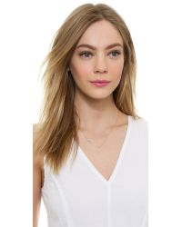 Tai - Metallic Leaf Necklace - Gold/Clear - Lyst