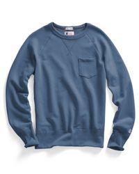 Todd Snyder   Blue Pocket Sweatshirt In Ocean for Men   Lyst