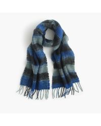 J.Crew | Blue Plaid Scarf for Men | Lyst