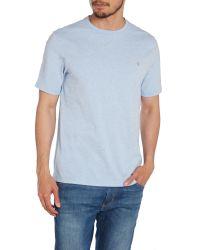 Farah - Blue Regular Fit Flecked Crew Neck T-shirt for Men - Lyst