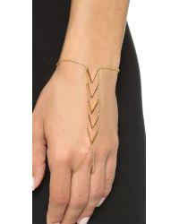 Gorjana | Metallic Morrison Hand Piece - Gold | Lyst