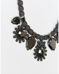 Girls On Film | Metallic Tiered Floral Burst Necklace | Lyst