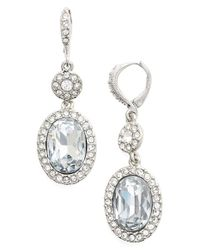 Givenchy - Metallic Oval Pave Drop Earrings - Lyst