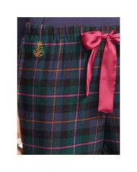 Ralph Lauren | Green Plaid Cotton Pajama Pant | Lyst