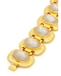 Kenneth Jay Lane | White Glass Pearl Station Bracelet | Lyst