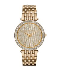 Michael Kors | Metallic Mk3438 Darci Goldtone Stainless Steel Bracelet Watch | Lyst