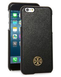 Tory Burch | Black 'robinson' Iphone 6 & 6s Case | Lyst