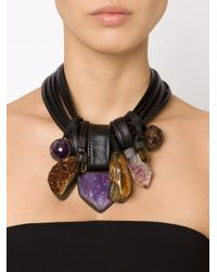 Monies - Brown Stone And Horn Necklace - Lyst